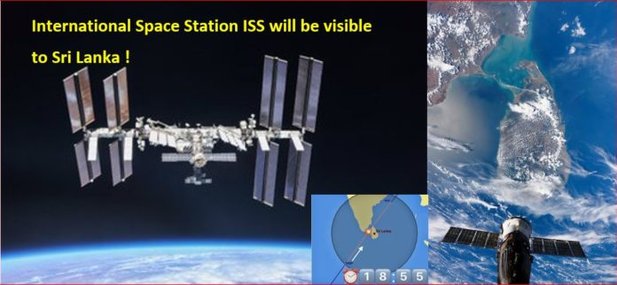 NASA International Space Station ISS will be visible to Sri Lanka TIMETABLE Dates