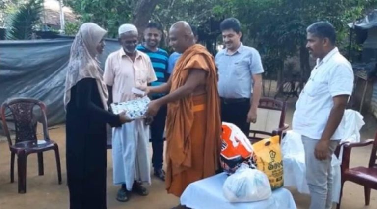 Buddhist monk helps to a Muslim girl for university education