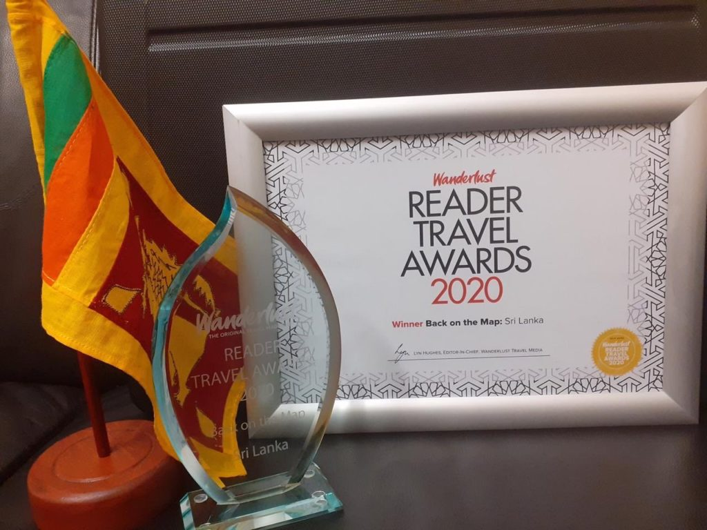 "Sri Lanka won ""Back on the Map"" award at Wanderlust Reader Travel Awards"