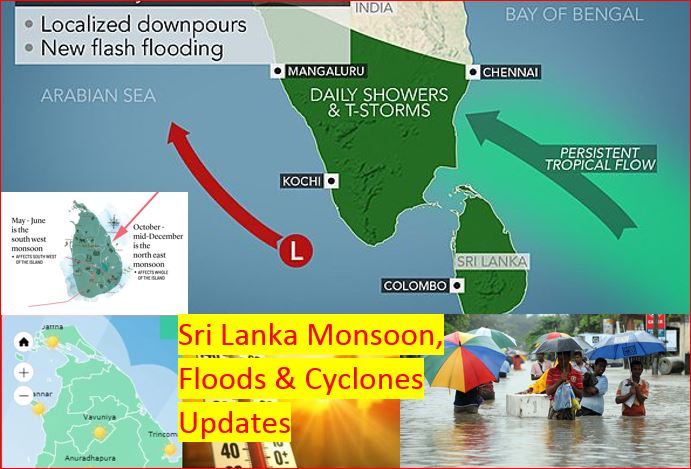 Sri Lanka Weather Alerts Monsoon Floods Heavy Rains Cyclones Updates