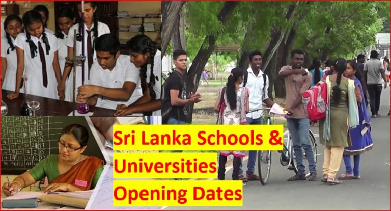When Reopening schools and universities in Sri Lanka
