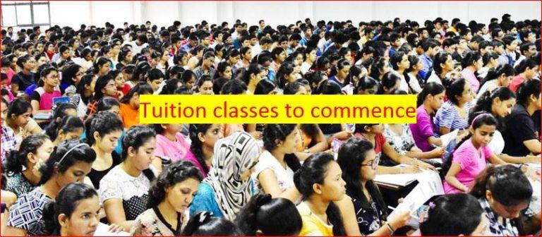 Sri Lanka to commence Tuition Classes Private Classes