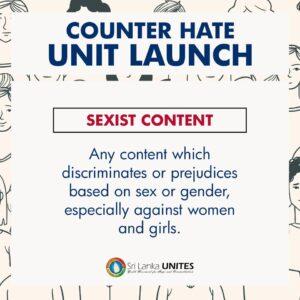 Sri Lanka Unites SLU counter hate unit to fight against hate speech on Social Media