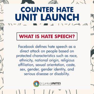 Sri Lanka Unites SLU fight against hate speech on Social Media