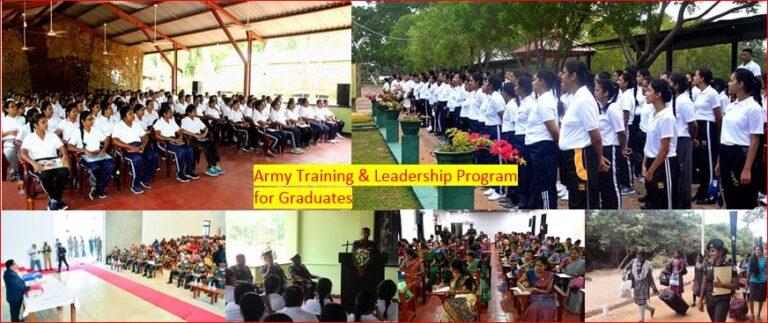 Military training programme for Sri Lankan graduates started