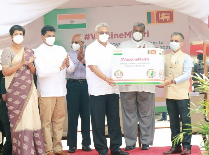 Sri Lanka receives 500,000 doses of COVID-19 vaccine from India