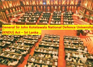 Kotelawala Private University Act Bill Sri Lanka